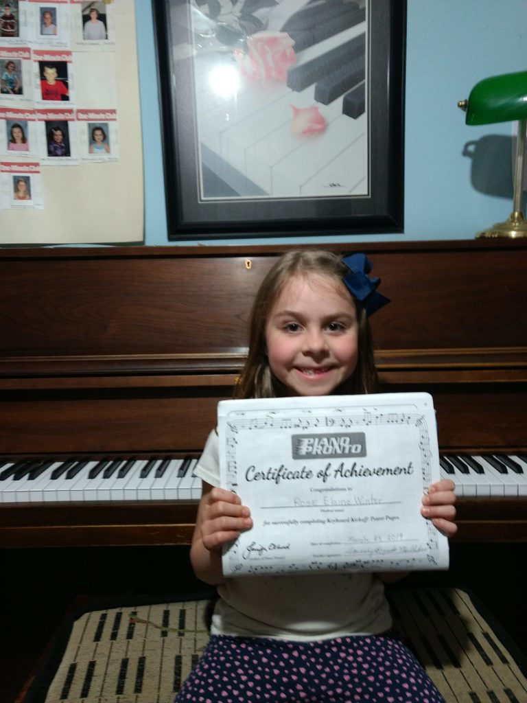 piano student Rose